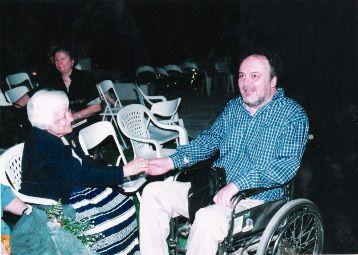 Με τη Διδώ Σωτηρίου, καλοκαίρι 2004
