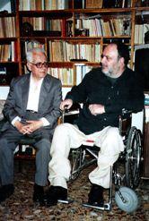 Με τον αντιστασιακό συγγραφέα Μ. Λιαρούτσο
