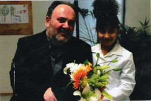 Με την ανιψιά του Φελίσια, 2004