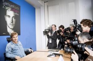 Ο Samuel Koch στο διάλειμμα της συνέντευξης